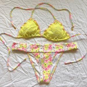 ☀️Victoria's Secret Yellow String Bikini Set☀️